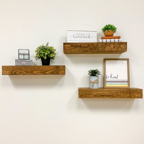 Artisan Haute Floating Shelves, Set of 3