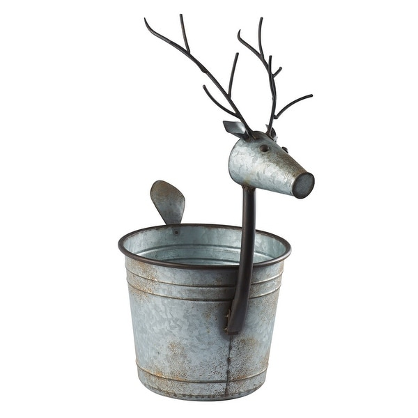 Deer Shaped Planter Galvanized Metal Bucket Potpourri Basket On Free Shipping Orders Over 45 16703146