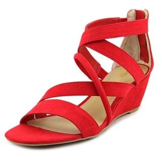 Nine West Hazel Women Open Toe Canvas Red Gladiator Sandal