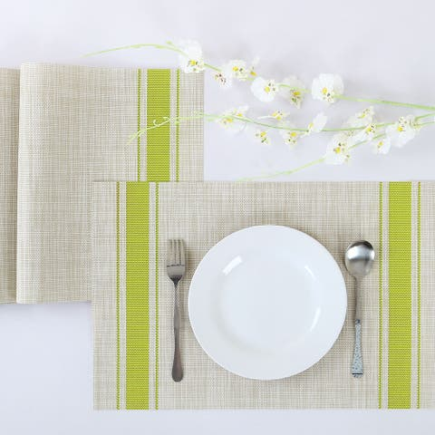 4/6pcs Heat Insulated Placemats Anti-slip Washable PVC Table Mats