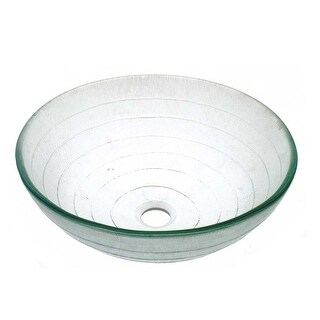 Tempered Glass Bathroom Vessel Frosted Circle Glass Pop-up In Renovator's Supply