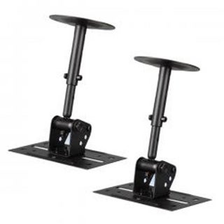 Dual Wall & Ceiling Speaker Mounts, Universal Mounting Holder
