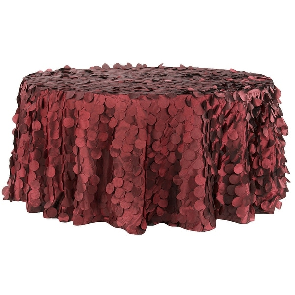 Petal Circle Taffeta 132 Round Tablecloth Le Red Free Shipping Today 18741803