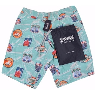 Vilebrequin Men's Aqua Ocean Swim Trunks Board Shorts Small