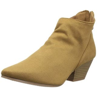 b490a17bbea Qupid Womens Rhythm Pointed Toe Ankle Fashion Boots. Quick View