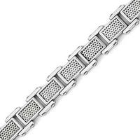 Chisel Stainless Steel Polished and Brushed Bracelet