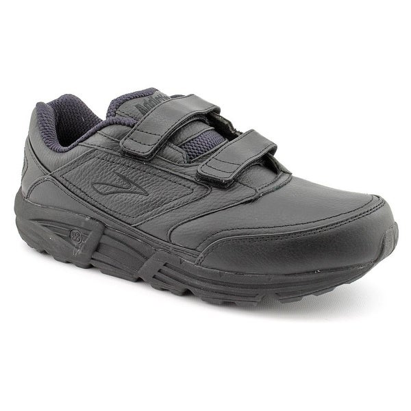 dbe0e622b50 Brooks Addiction Walker V-Strap Women D Round Toe Leather Black Walking Shoe