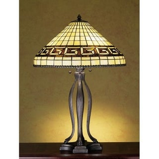 Meyda Tiffany 29504 Stained Glass / Tiffany Table Lamp from the Greek Key Collection - n/a