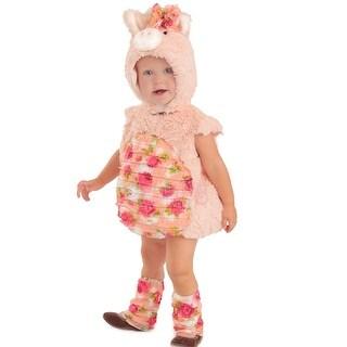Baby Girls Pink Plush Flora Piglet 3 Pc Dress Up Halloween Costume