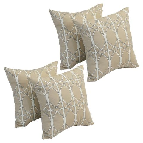 Blazing Needles 17-inch Square Polyester Outdoor Throw Pillows (Set of 4)
