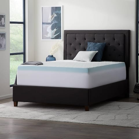 Lucid Comfort Collection Fitted Mattress and Topper Cover - White