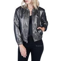 Paige Women's Large Bomber Full-Zipped Seamed Jacket