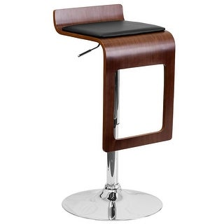 Alpha Contemporary Bombo Style Adjustable Barstool Free