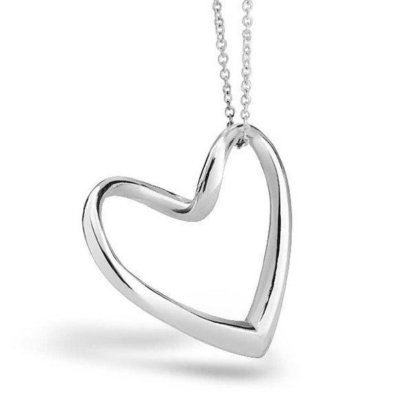 89367ad1b6b6 Floating Open Heart Pendant Necklace For Women Girlfriend High Polished 925  Sterling Silver With Chain