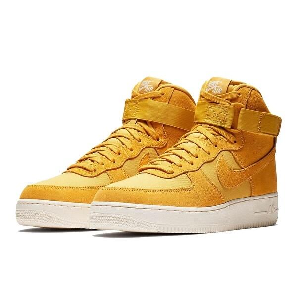 Shop Nike Air Force 1 High '07 Suede Yellow Ochre (AQ8649