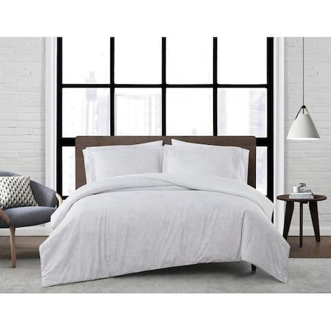 London Fog Sasha Paisley 3 Piece Duvet Cover Set