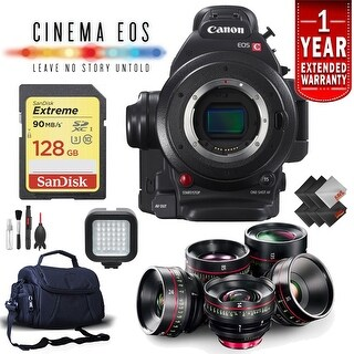 Canon EOS C100 Mark II Camera (Intl Model) Complete Lens Kit