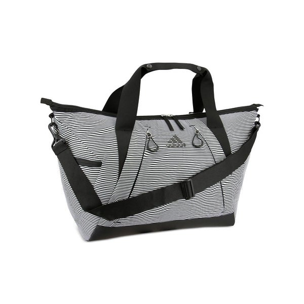 ff729879b6f Shop Adidas Duffle Bag Striped Gym - O/S - Free Shipping On Orders Over $45  - Overstock - 27992567