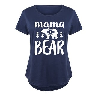 Mama Bear - Ladies Plus Size Scoop Neck Tee