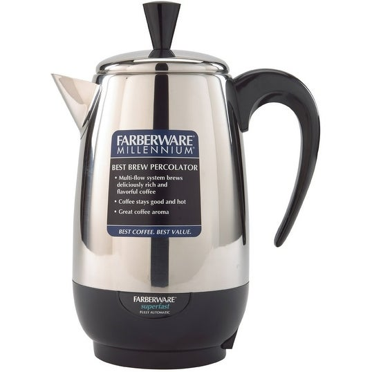 Shop Farberware Fcp280 Stainless Steel 8 Cup Percolator 1000 Watt