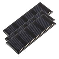 3Pcs DC 2V 0.2W Rectangle Energy Saving Solar Cell Panel Module for Charger