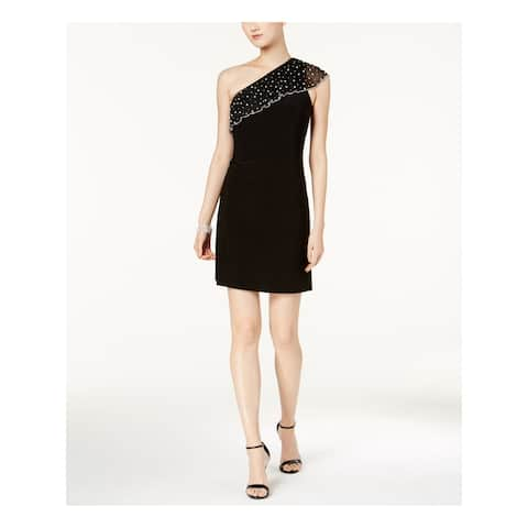 MSK Black Sleeveless Above The Knee Dress M