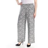ALFANI Womens Black Printed Wide Leg Wear To Work Pants  Size: XL