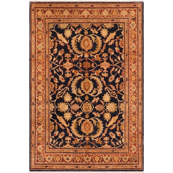 """Boho Chic Ziegler Bianca Hand Knotted Area Rug -8'2"""" x 9'11"""" - 8 ft. 2 in. X 9 ft. 11 in.. Opens flyout."""