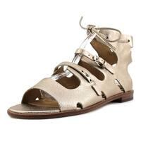 Corso Como Tiki Women  Open Toe Leather Gold Gladiator Sandal