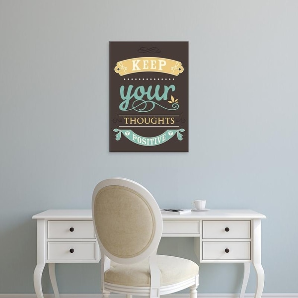 Easy Art Prints GraphINC's 'Keep Your Thoughts' Premium Canvas Art