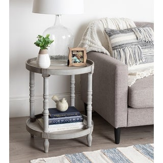 Link to Kate and Laurel Bellport Round Wood Side Table with Shelf - 20x20x24 Similar Items in Living Room Furniture
