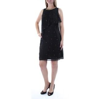 Womens Black Sleeveless Above The Knee Dress Size: 22W