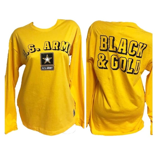 3f601cc1e1233 Victoria's Secret PINK Collegiate US Army Long Sleeves Graphics Shirt Yellow