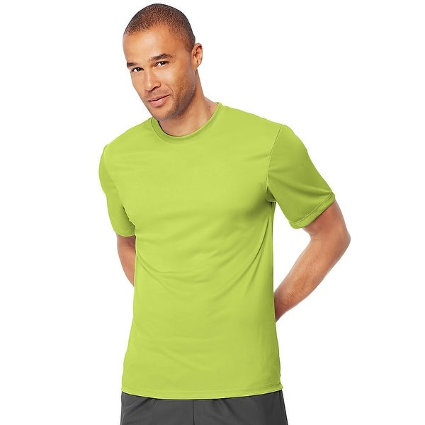 bdf62de6 Shop Hanes Cool DRI® TAGLESS® Men's T-Shirt - Size - M - Color - Safety  Green - Free Shipping On Orders Over $45 - Overstock - 13858721