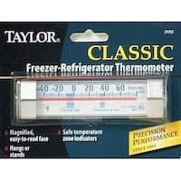 Taylor 5925N Freezing Guide Thermometer, Stainless Steel Clips