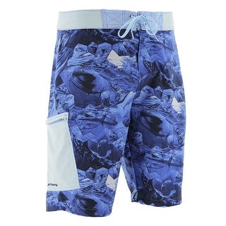 Huk Men's KC Scott Offshore Cell Carolina Blue Size 34 Boardshort
