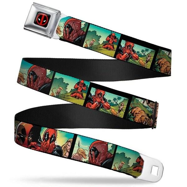 Marvel Universe Deadpool Logo Full Color Black Red White Deadpool Ka Zar Seatbelt Belt
