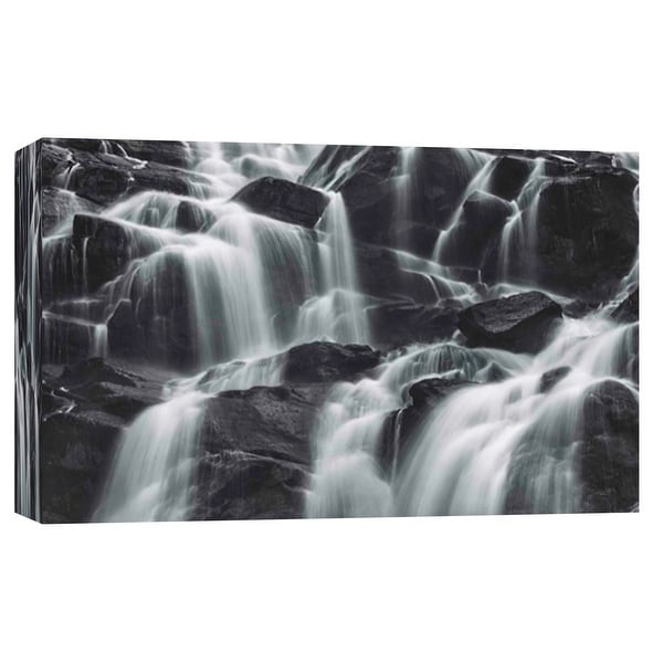 """PTM Images 9-102123 PTM Canvas Collection 8"""" x 10"""" - """"Cascade in the Dark"""" Giclee Waterfalls Art Print on Canvas"""