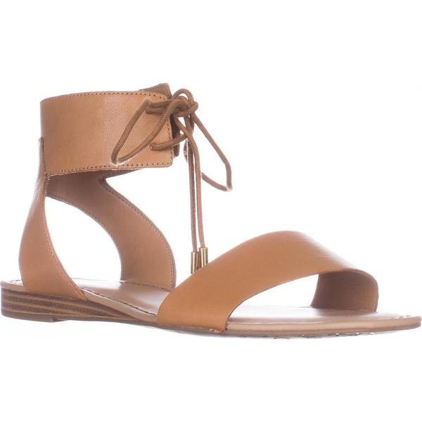 Franco Sarto Glenys Flat lace-Up Sandals, Kork Leather