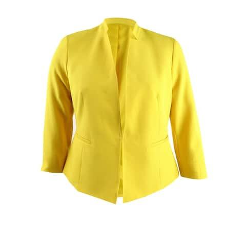 Kasper Women's Stand-Collar Blazer (12, Dandelion)