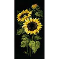 "Sunflowers Counted Cross Stitch Kit-9.75""X19.75"" 10 Count"