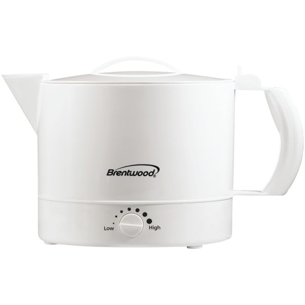 Brentwood Kt-32W 32-Ounce Plastic Hot Pot