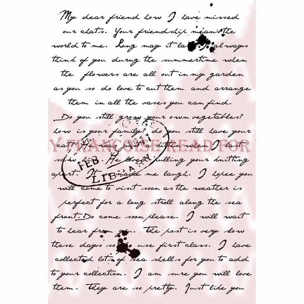 """Woodware Clear Stamps 3.5""""X5.5""""-Old Letter"""