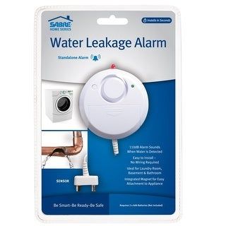 Link to Sabre HS-WLA Water Leakage Alarm, Plastic, White Similar Items in Home Automation