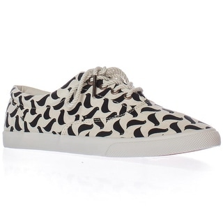 bucketfeet Carrie Van Hise Birds Low-Top Lace Sneakers - Beige/Black