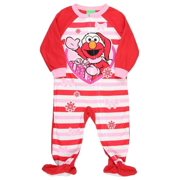 54078182a6 Shop AME Sesame Street Little Girls  Elmo Christmas Blanket Sleeper Pajamas  - Free Shipping On Orders Over  45 - Overstock - 18613712
