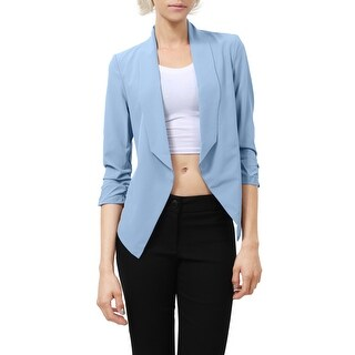 NE PEOPLE Women's Big High Lapel Collar Open Blazer Jacket [NEWJ52] (More options available)