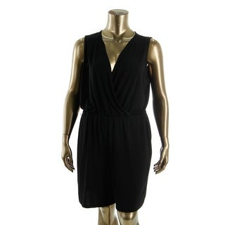 NY Collection Womens Plus Matte Jersey Sleeveless Romper