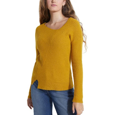 Guess Womens Alivia Sweater Ribbed Asymmetric