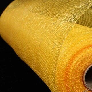 "Yellow and Gold Deco Mesh Craft Ribbon 21"" x 60 Yards"
